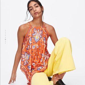Zara printed halter top